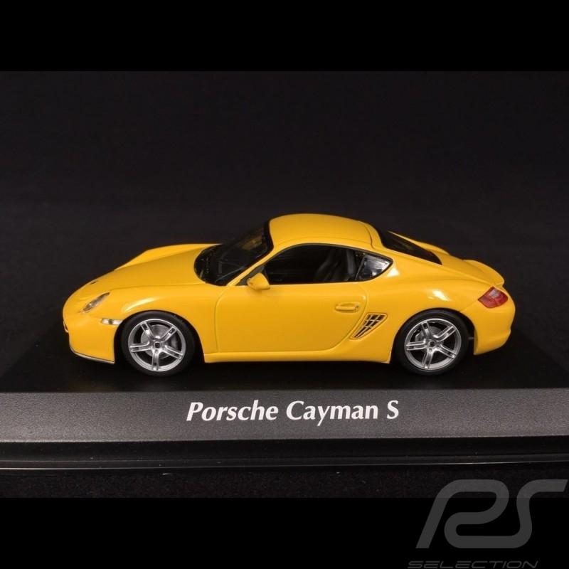 Porsche Cayman S type 987 2005 racing yellow 1/43 Minichamps 940065620