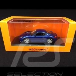 Porsche Cayman S type 987 2005 metallic Blue 1/43 Minichamps 940065621