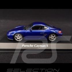 Porsche Cayman S type 987 2005 Bleu métallisé 1/43 Minichamps 940065621