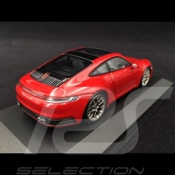 Porsche 911 type 992 Carrera 4S 2019 carmine red 1/43 Minichamps 410069321