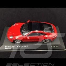 Porsche 911 type 992 Carrera 4S 2019 carmine red 1/43 Minichamps 410069321