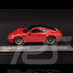 Porsche 911 typ 992 Carrera 4S 2019 Karminrot 1/43 Minichamps 410069321