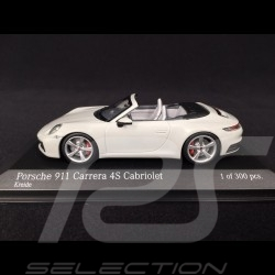 Porsche 911 type 992 Carrera 4S Cabriolet 2019 chalk grey 1/43 Minichamps 410069331