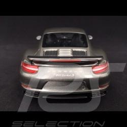 Porsche 911 Turbo S type 991 mark II 2016 quartz grey metallic 1/18 Minichamps 110067121