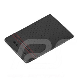 Porte-cartes de crédit Mercedes AMG Cuir Noir avec pince à billets Mercedes-Benz B66954541