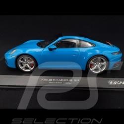 Porsche 911 type 992 Carrera 4S 2019 miami blue 1/18 Minichamps 153067326