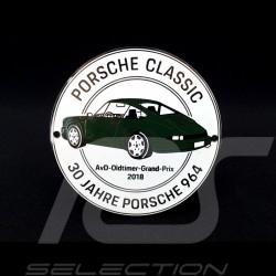 Badge de grille Porsche 914 50 ans 1969 - 2019 Blanc Porsche Design MAP04515619
