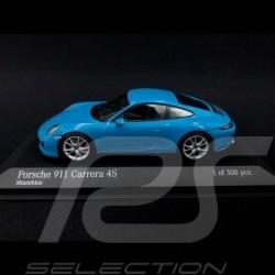Porsche 911 type 991 phase II Carrera 4S 2016 Miami blue 1/43 Minichamps 410067242