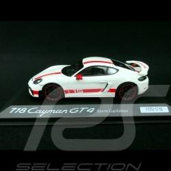 Porsche 718 Cayman GT4 Sports Cup Edition blanc / rouge 1/43 Minichamps WAP0204140LEXC