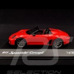 Porsche 911 type 991 Speedster Concept II rouge Indien 2018 1/43 Spark WAX02100043 Guards red indischrot