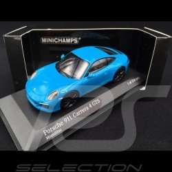 Porsche 911 type 991 phase II Carrera 4 GTS 2017 Miami blue 1/43 Minichamps 410067322