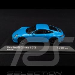Porsche 911 typ 991 phase II Carrera 4 GTS 2017 Miami blau 1/43 Minichamps 410067322