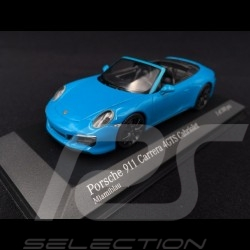 Porsche 911 type 991 phase II Carrera 4 GTS Cabriolet 2016 Miami blue 1/43 Minichamps 410067332