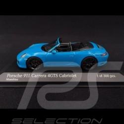 Porsche 911 type 991 phase II Carrera 4 GTS Cabriolet 2016 bleu Miami 1/43 Minichamps 410067332