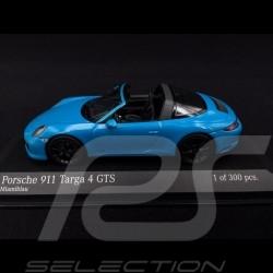Porsche 911 typ 991 Phase II Targa 4 GTS 2016 Miami blau 1/43 Minichamps 410067342