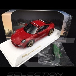 Porsche 911 type 992 Carrera 4S 2019 carmin red with Christmas tree 1/43 Spark WAXL2000002