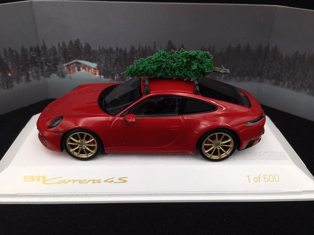 Porsche 911 Type 992 Carrera 4s 2019 Carmin Red With Christmas Tree 1 43 Spark Waxl2000002 Selection Rs