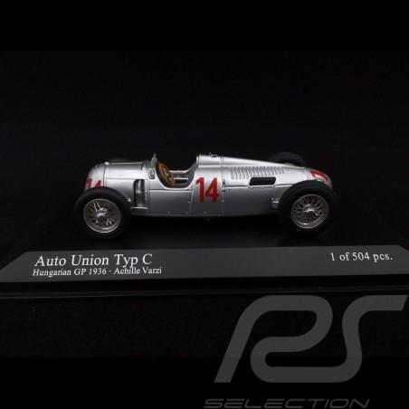 Auto Union Typ C GP Hungary 1936 n° 14 1/43 Minichamps 400360014