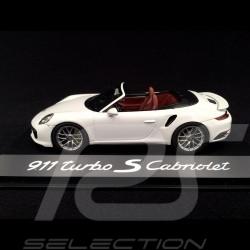 Porsche 991 Turbo S Cabriolet 2016 white 1/43 Herpa WAP0201340G