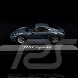 Porsche 718 Cayman 2016 metallic graphite blue 1/43 Minichamps WAP0204010G