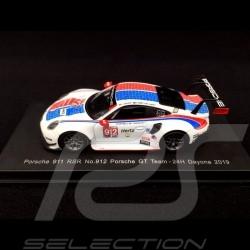 Porsche 911 RSR type 991 24h Daytona 2019 n° 912 Style Brumos 1/64 Spark Y136