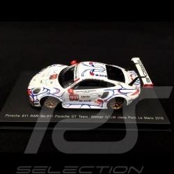 Porsche 911 GT3 RSR type 991 Vainqueur winner sieger Petit Le Mans 2018 n° 911 Porsche GT Team 1/64 Spark Y135