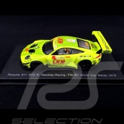 Porsche 911 GT3 R type 991 Macau GT World Cup 2018 n° 911 Manthey 1/18 Spark 18SA021