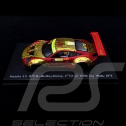 Porsche 911 GT3 R type 991 Macau GT World Cup 2018 n° 912 Manthey 1/64 Spark Y126