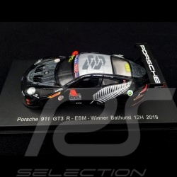 Porsche 911 GT3 R 991 n° 912 EBM Werner Olsen Sieger 12h Bathurst 2019 1/64 Spark Y160
