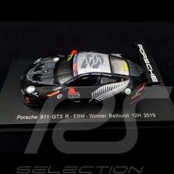 Porsche 911 GT3 R 991 n° 912 EBM Werner Olsen Vainqueur Winner Sieger 12h Bathurst 2019 1/64 Spark Y160