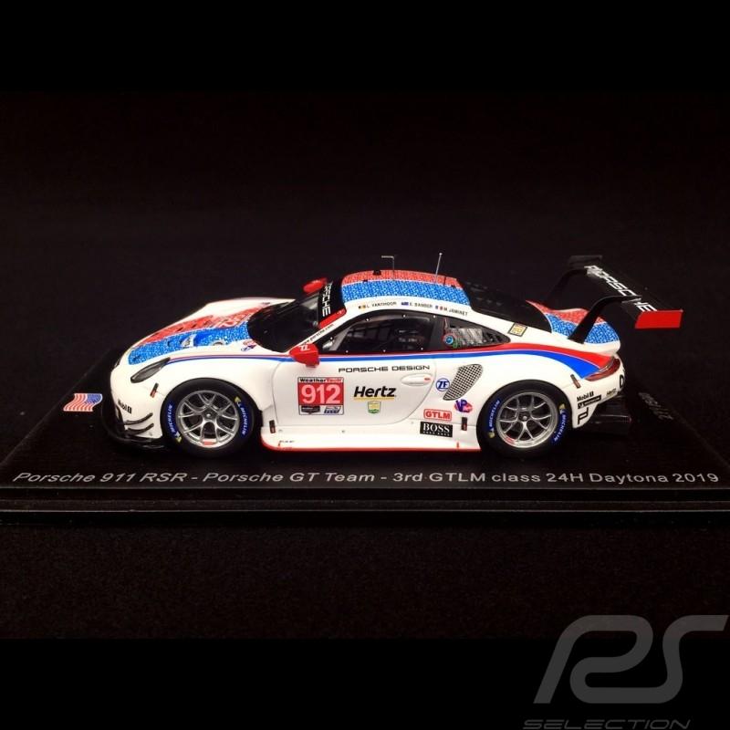 Porsche 911 RSR type 991 24h Daytona 2019 n° 912 Brumos design 1/18 Spark 18US007