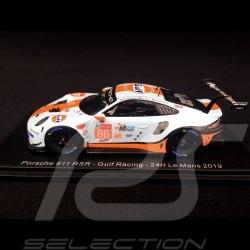 Porsche 911 RSR typ 991 24h du Mans 2019 n° 86 Gulf Racing 1/43 Spark S7946