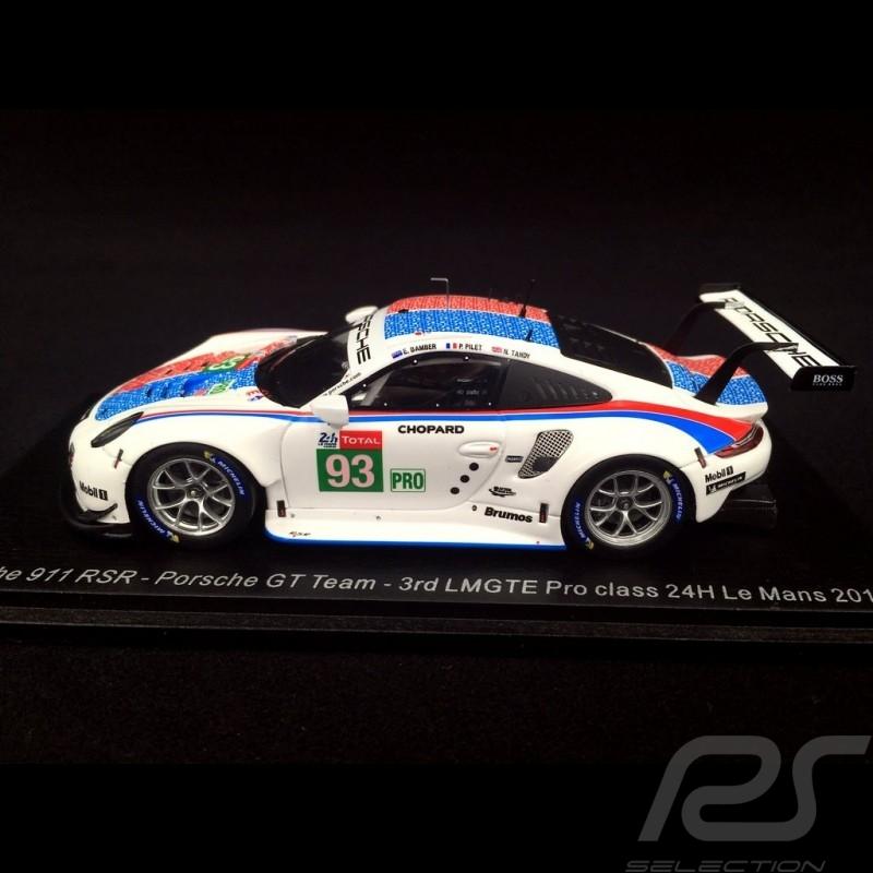 Porsche 911 RSR type 991 24h Daytona 2019 n° 912 Brumos design 1/43 Spark US072