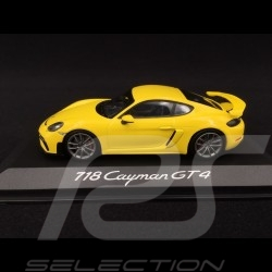 Porsche 718 Cayman GT4 type 982 2019 jaune racing 1/43 Minichamps WAP0204160K speed yellow speedgelb