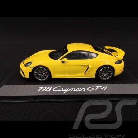 Porsche 718 Cayman GT4 type 982 2019 speed yellow 1/43 Minichamps WAP0204160K