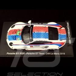 Porsche 911 RSR type 991 24h Le Mans 2019 n° 94 Brumos design 1/43 Spark S7939