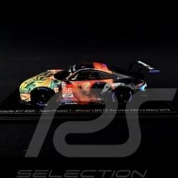 Porsche 911 RSR type 991 vainqueur winner sieger 24h du Mans 2019 n° 56 Team Project One 1/43 Spark S7942