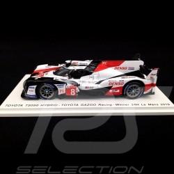 Toyota TS050 Hybrid Sieger 24h du Mans 2019 n° 8 Gazoo Racing 1/43 Spark 43LM19