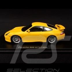 Porsche 911 type 996 GT3 1999 Jaune Racing 1/43 Spark S4942 yellow gelb