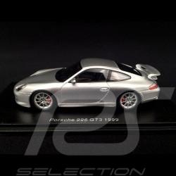 Porsche 911 type 996 GT3 1999 Gris argent métallisé 1/43 Spark S4943 silver grey silbergrau