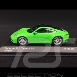 Porsche 911 type 992 Carrera 4S 2019 vert lézard 1/43 Minichamps 410069322 lizard green Lizardgrün