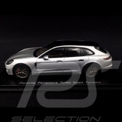 Porsche Panamera Sport Turismo Turbo 2018 metallic silver grey 1/43 Spark S7617