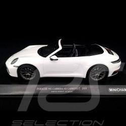 Porsche 911 type 992 Carrera 4S Cabriolet 2019 blanc white weiß 1/18 Minichamps 155067330