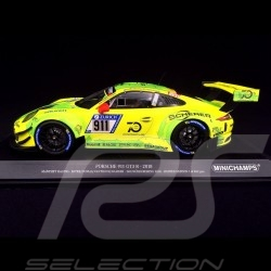Porsche 911 type 991 GT3 R Nürburgring 2018 n° 911 Manthey racing 1/18 Minichamps 155186911