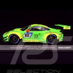 Porsche 911 type 991 GT3 R Sieger Nürburgring 2018 n° 912 Manthey racing 1/18 Minichamps 155186912
