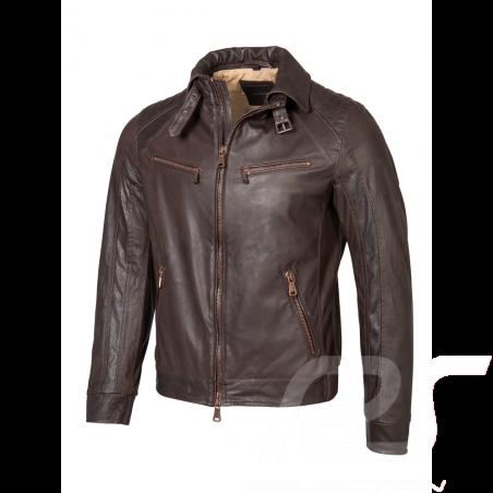 Mercedes leather jacket Heinz Bauer Brown Mercedes-Benz B66041631 - men