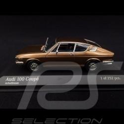 Audi 100 Coupé 1969 marron agate 1/43 Minichamps 430019128 agate brown Achatbraun