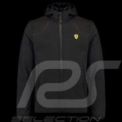 Veste Jacket Jacke Ferrari à capuche Softshell Hoodie Noir Collection Ferrari Motorsport - homme