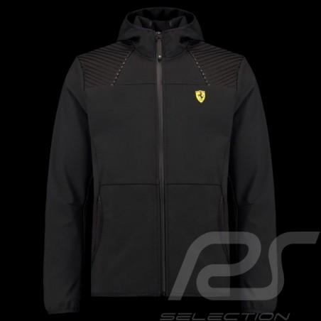 Ferrari Hoodie Jacket Softshell Black Ferrari Motorsport Collection - men
