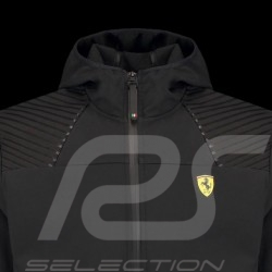 Ferrari Hoodie Jacket Softshell Black Ferrari Motorsport Collection - men